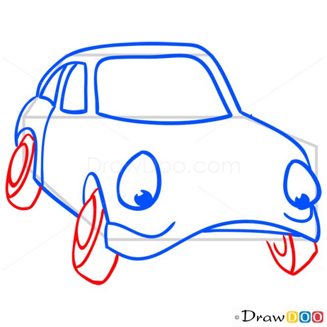 How to Draw Gloomy Car, Cartoon Cars