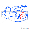 How to Draw Bemused Car, Cartoon Cars