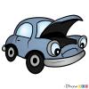 How to Draw Bemused Car, Cartoon Cars