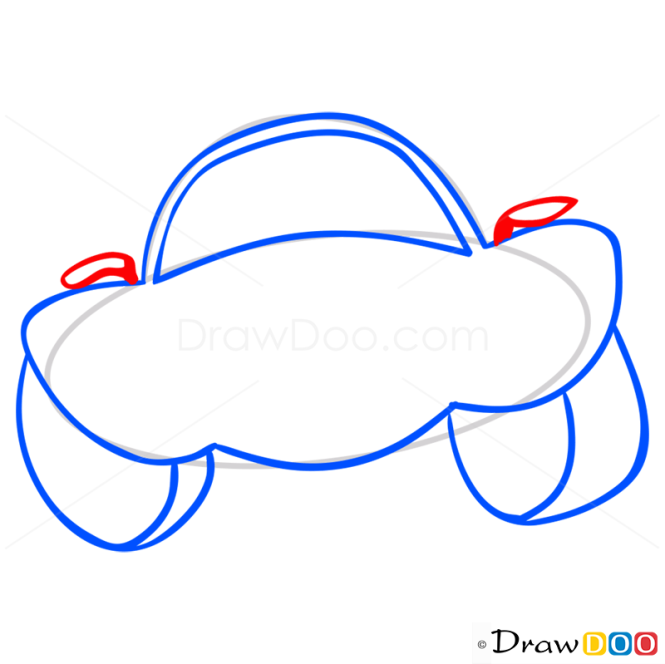 How to Draw Laughing Car, Cartoon Cars