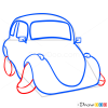 How to Draw Confused Red Car, Cartoon Cars