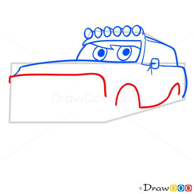 How to Draw Blue Jeep, Cartoon Cars