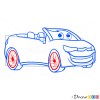 How to Draw Cabriolet, Cartoon Cars