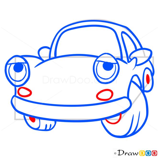 How to Draw Sad Car, Cartoon Cars