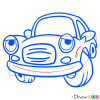 How to Draw Sad Car, Cartoon Cars