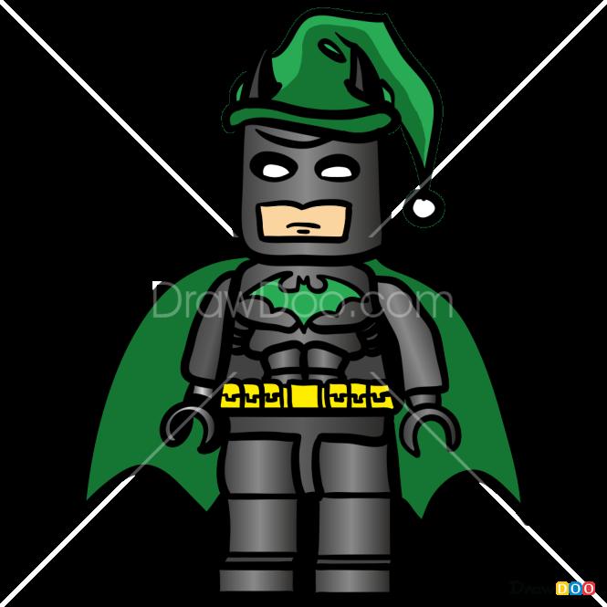 Batman Christmas.How To Draw Lego Batman Christmas Cartoons