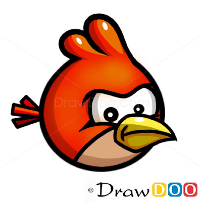 How to Draw Red Bird, Cartoon Characters