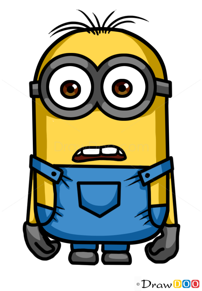 A Cartoon Character Of Me : How to draw minion dave cartoon characters