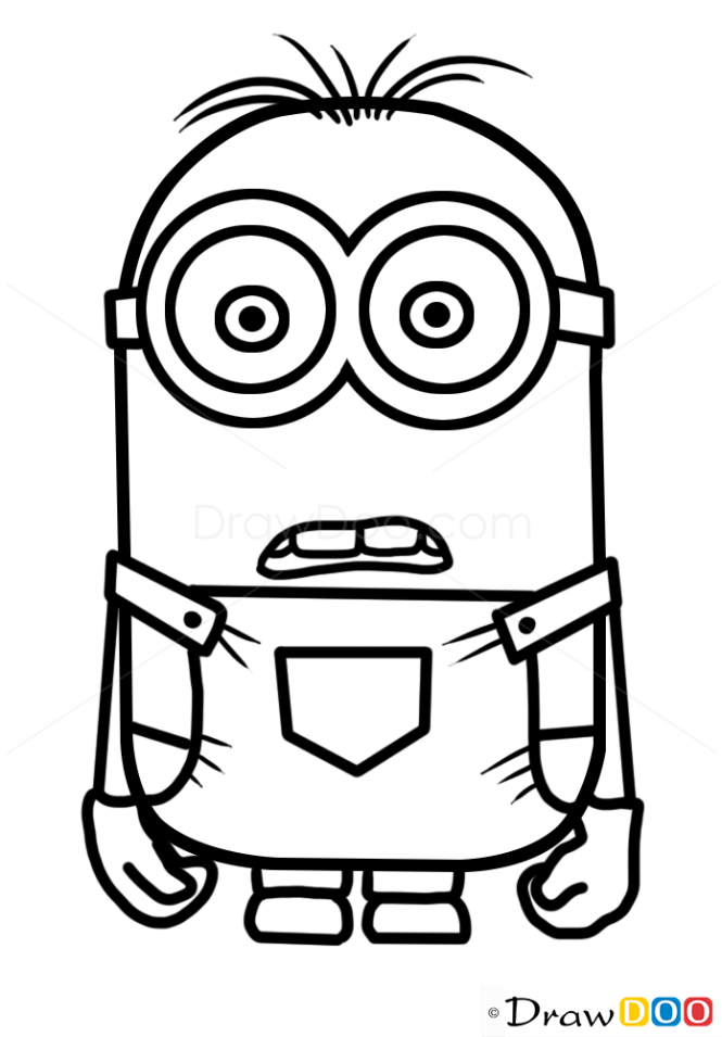 Cartoon Characters How To Draw : How to draw minion dave cartoon characters