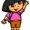How to Draw Dora, Cartoon Characters