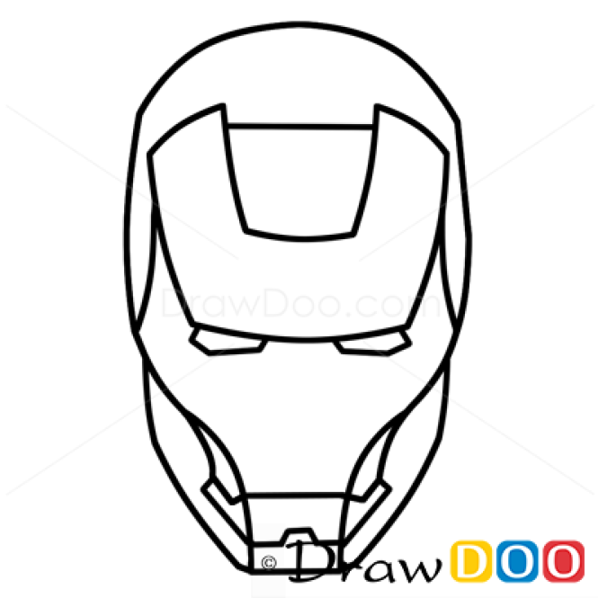 how to draw ironman cartoon characters