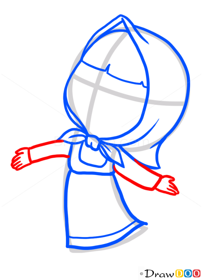 How to Draw Masha, Cartoon Characters