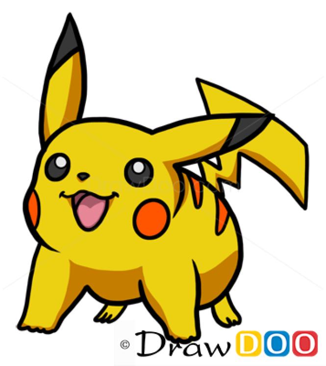 How to Draw Pikachu, Cartoon Characters