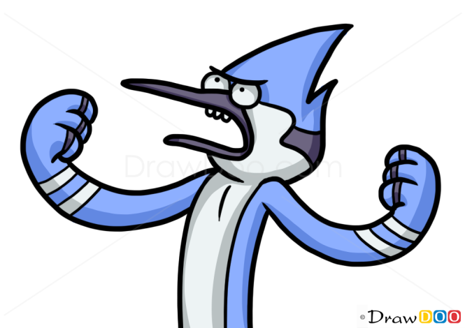 How to Draw Mordecai, Cartoon Characters
