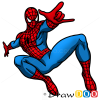 How to Draw Spiderman, Cartoon Characters