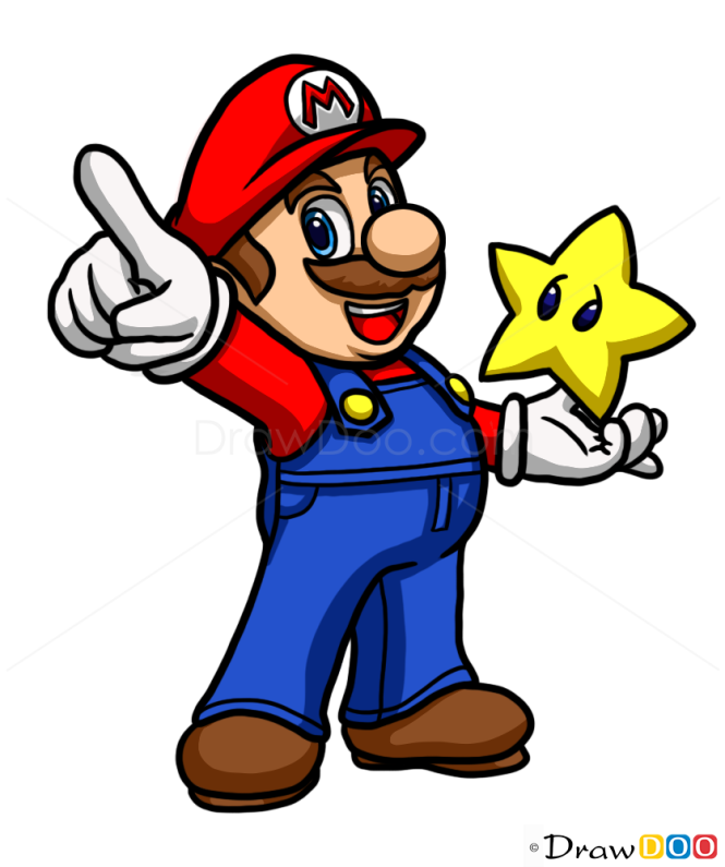 how to draw super mario galaxy characters