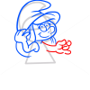 How to Draw Smurfette, Cartoon Characters