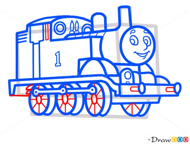 How to Draw Thomas, Cartoon Characters