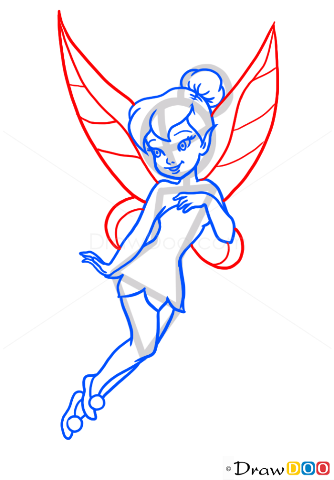 How to Draw Tinker Bell, Cartoon Characters