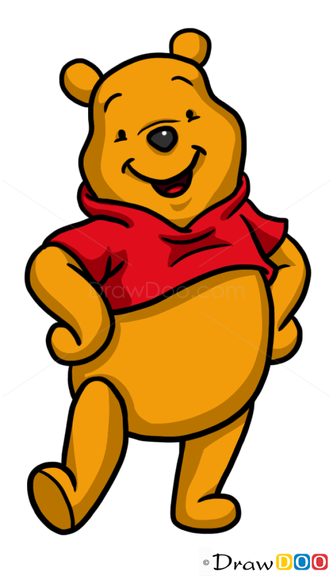 how to draw winnie the pooh with honey