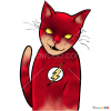 How to Draw Flash Cat, Cats Superheroes