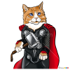 How to Draw Thor Cat, Cats Superheroes