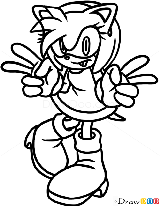 How to Draw Amy Rose, Cats and Kittens