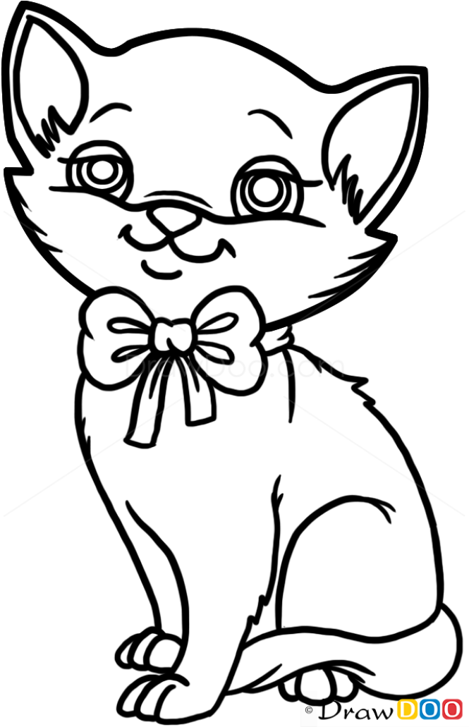 how to draw cute kitten cats and kittens