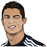 How to Draw Cristiano Portrait, Celebrities Cristiano Ronaldo