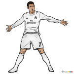 How to Draw Cristiano Ronaldo, Celebrities Cristiano Ronaldo