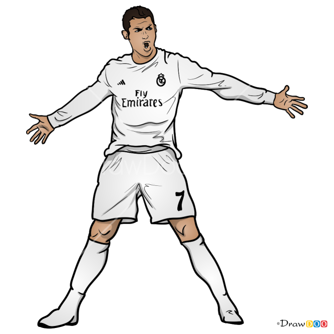 How To Draw Cristiano Ronaldo Celebrities Cristiano Ronaldo