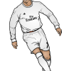 How to Draw Ronaldo on Field, Celebrities Cristiano Ronaldo