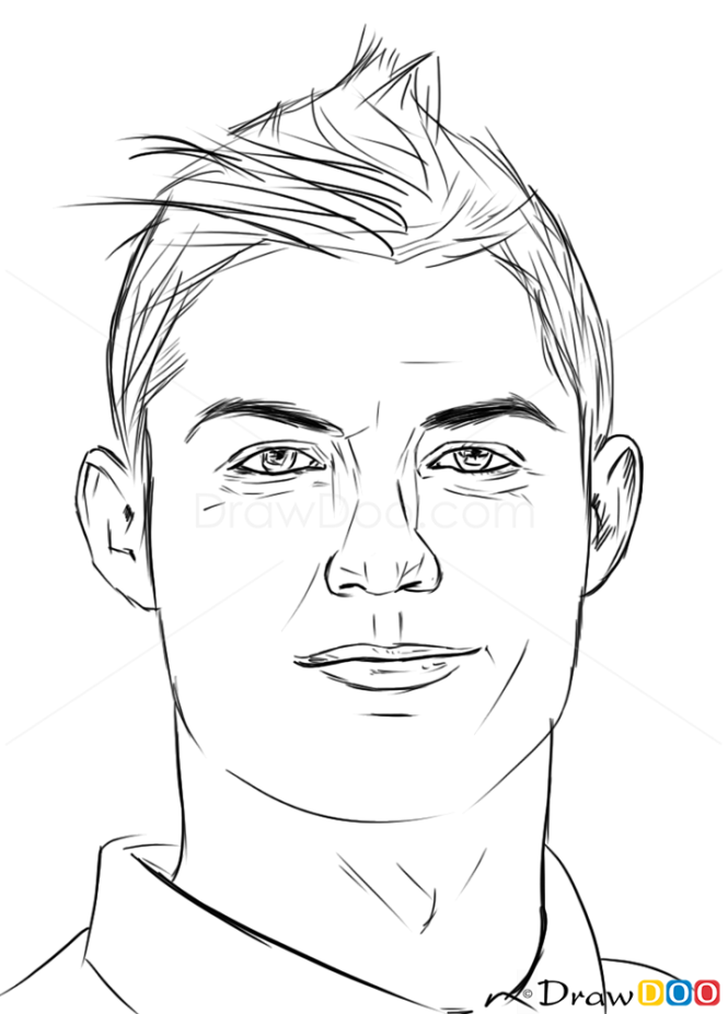 Drawing Lines With Php : How to draw cristiano ronaldo celebrities
