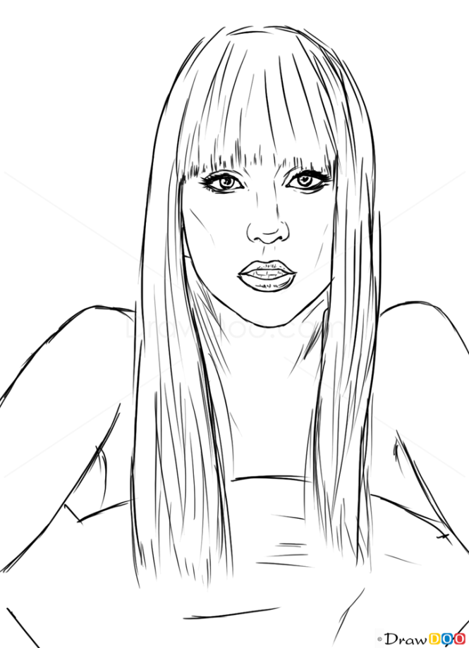 How to Draw Lady Gaga, Celebrities