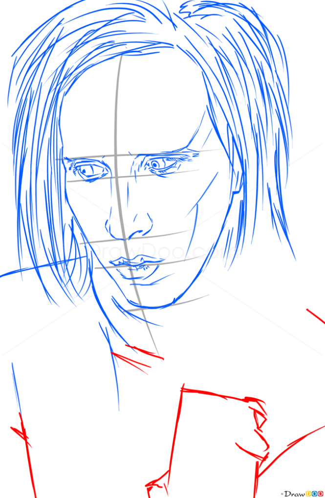 How to Draw Marilyn Manson, Celebrities