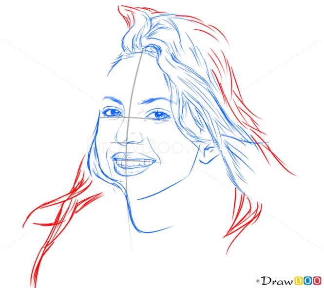 How to Draw Shakira, Celebrities