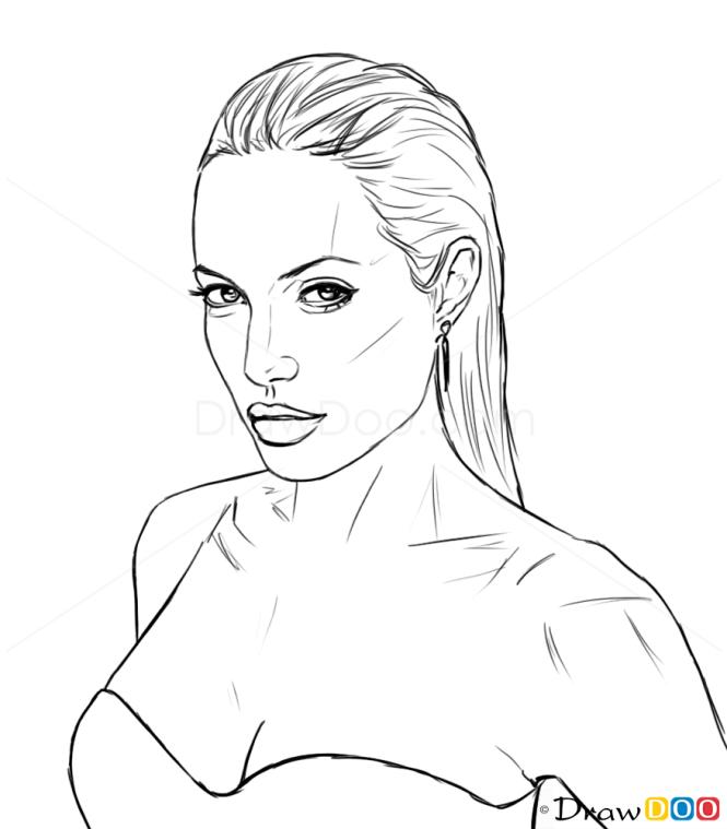 How to draw celebrity