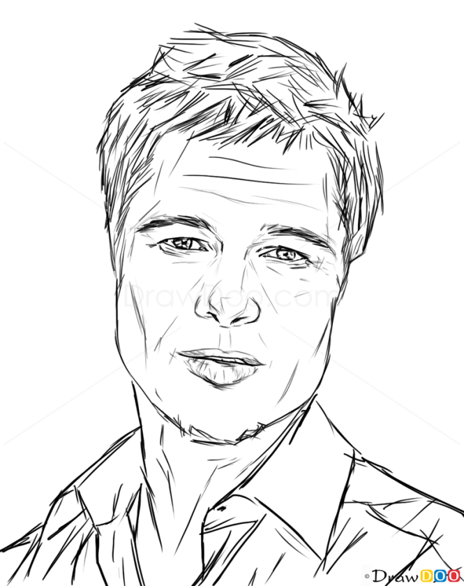 Drawing Lines With Php : How to draw brad pitt celebrities
