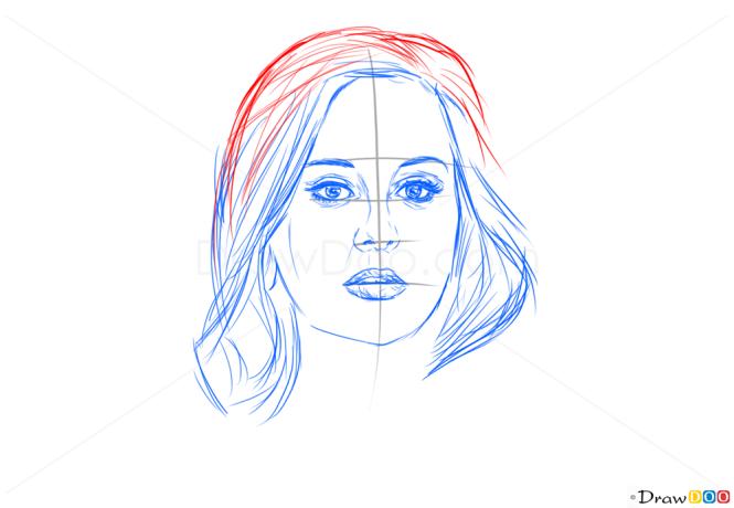 how to draw adele chibi
