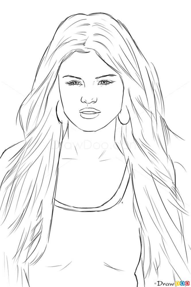Drawing Lines With Php : How to draw selena gomez celebrities