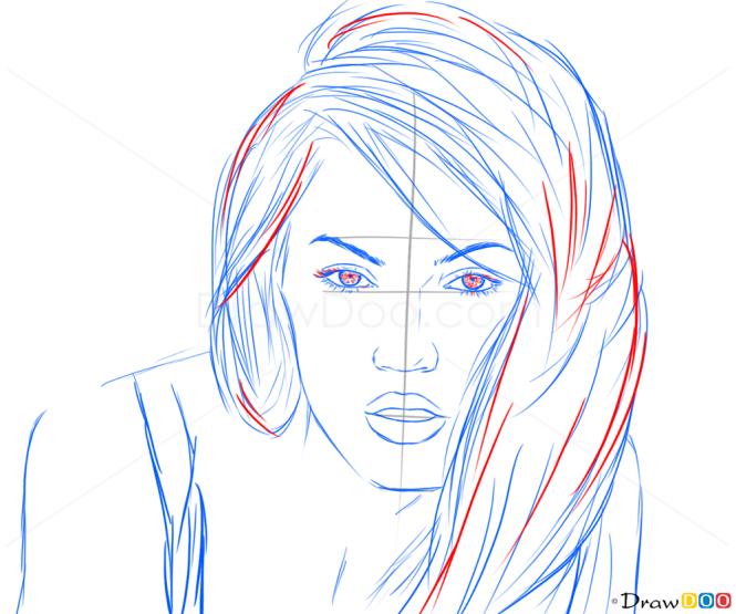 How to Draw Megan Fox, Celebrities