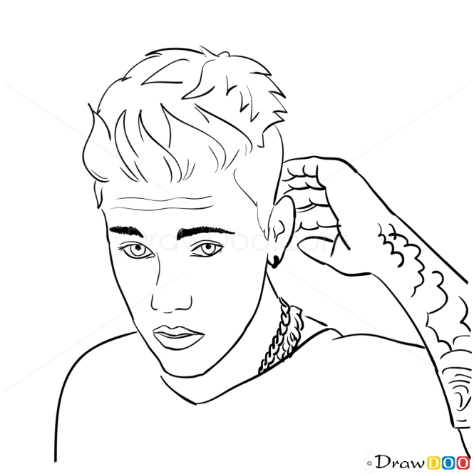 How to Draw Hollywood Reporter,  2013, Justin Bieber