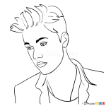 How to Draw Photoshoot, 2013, Justin Bieber