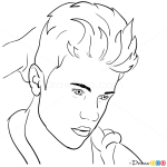 How to Draw Rolling Stone Magazine, 2012, Justin Bieber