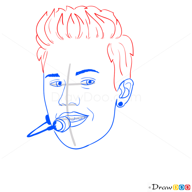 How to Draw Justin On Stage, Justin Bieber