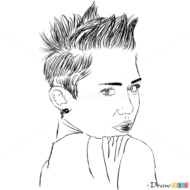 How to Draw V Magazine, Summer 2013, How to Draw Miley Cyrus