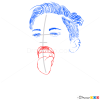 How to Draw Studio Photo By, Terry Richardson, How to Draw Miley Cyrus