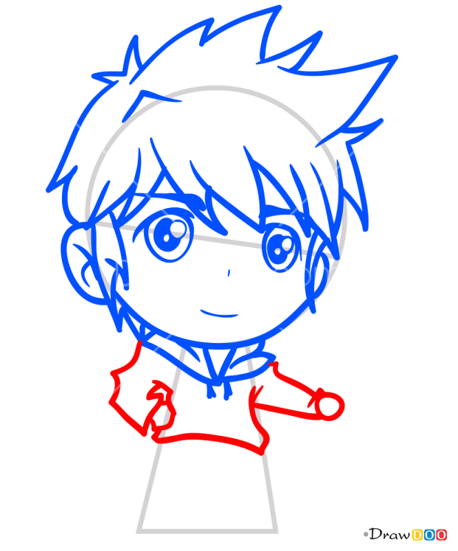 How to Draw Winter Boy, Chibi