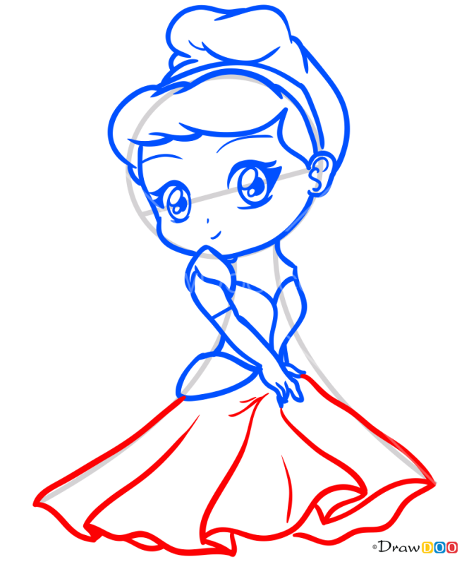 How to Draw Blonde Princess, Chibi