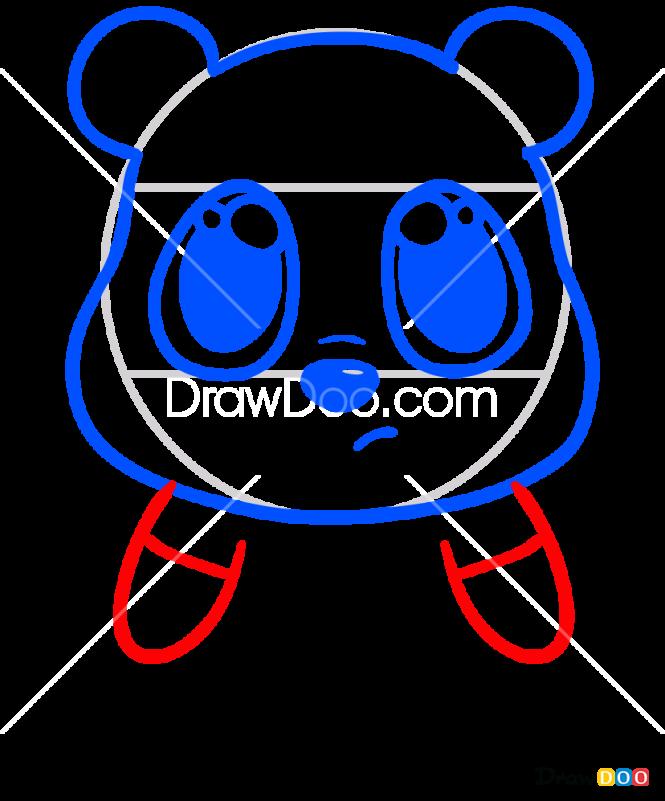 How to Draw Cartoon Bear 1, Chibi